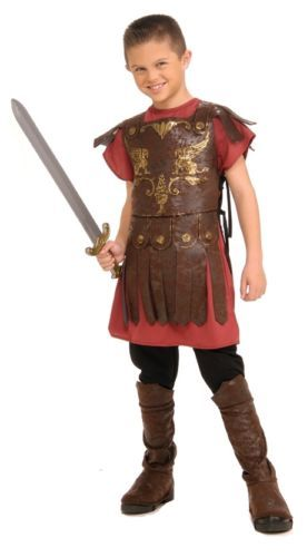 Mens Gladiator Rubies New Adult Roman Warrior Soldier Fancy Dress Costume Outfit
