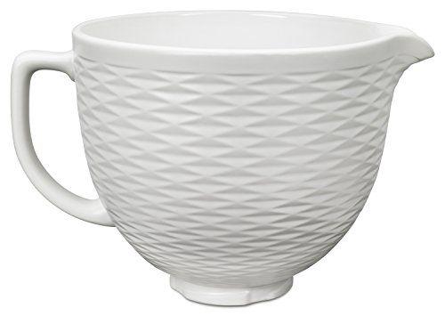 Kitchenaid Ksmcb5tlw 5 Qt Tilt Head Textured Ceramic Bowl