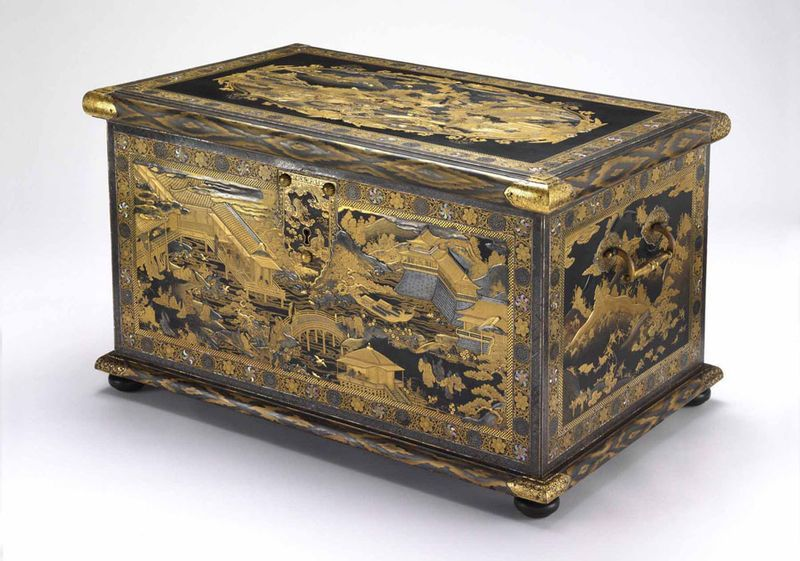 Manzarin Chest C 1640 Unknown Artist Mobilier Medieval Meubles Japonais Mobilier De Salon