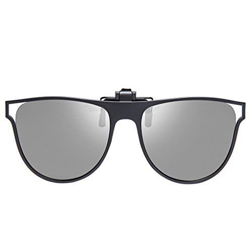1491073c81b BELLBESSON Polarized Clipon Flip up Clip Sunglasses Lenses for Driving  Fishing Outdoor Sport Travelling Grey