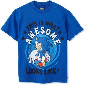 Amazon Com Sonic The Hedgehog Boys 8 20 Awesome Kid Sonic Youth Shirt Clothing 14 99 Sonic T Shirt Youth Shirts Sonic Costume