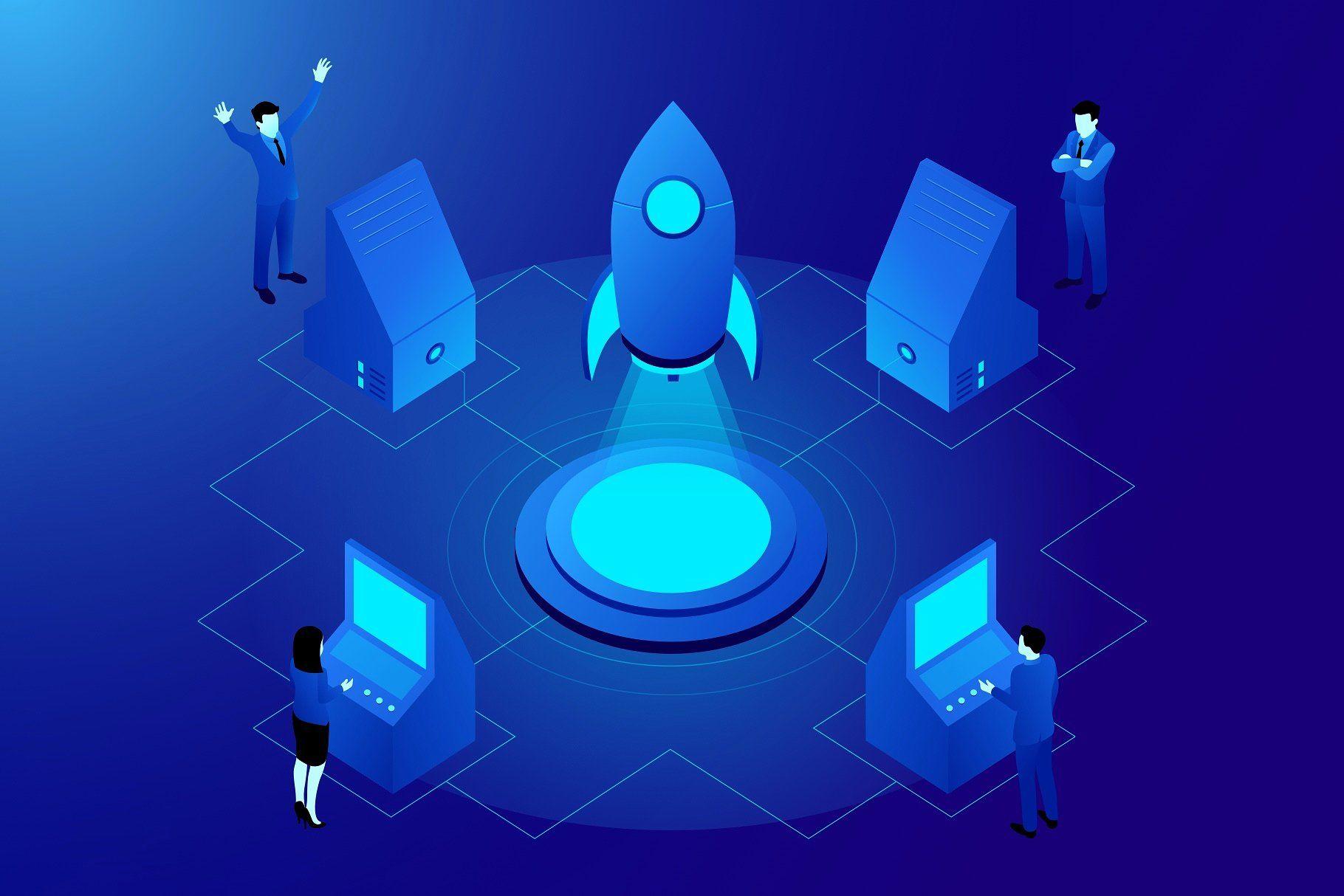 Crypto & Tech Isometric website templates, website design