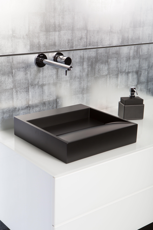 Schlichter Sehr Eleganter Waschbecken In Schwarz Matt