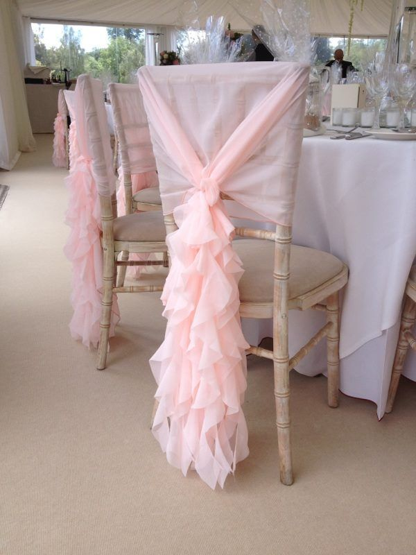 Blush Pink Ruffle Chair Cover Hoods Supplied By The Midlands Events Company Dressed Covers For Celebrations Covering Es