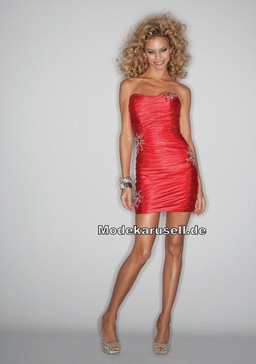 Kurzes Etui Abendkleid in Rot Schwarz (mit Bildern ...
