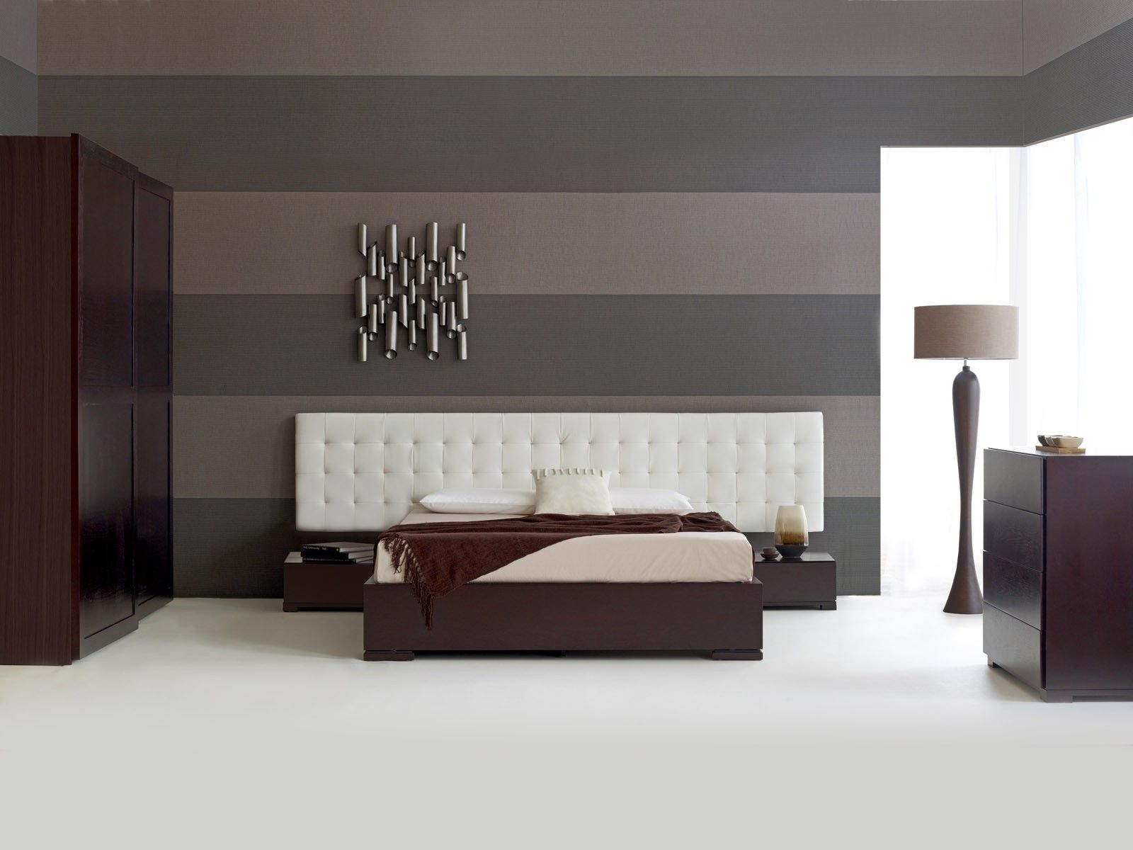 Contemporary headboard ideas for your modern bedroom for Bed wallpaper design