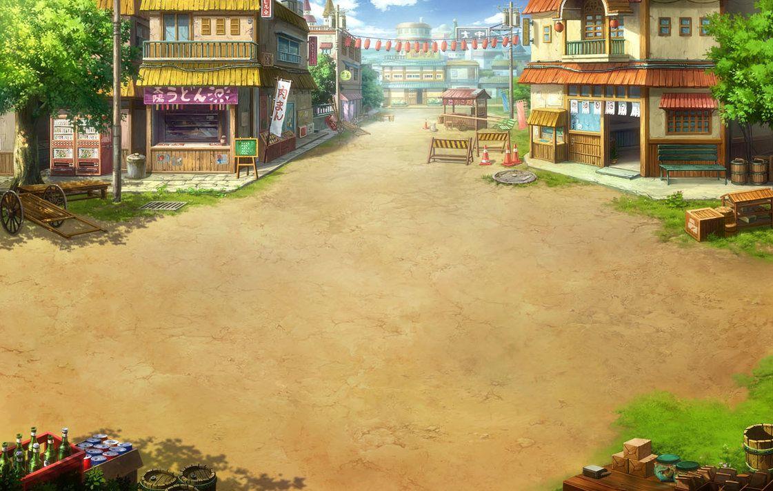 naruto online konoha battle background by danteg9b background naruto anime background pinterest