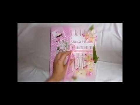 Babyalbum von der Schwangerschaft bis zu 1 Jahr/ детский альбом первый год жизни ,крещение - YouTube