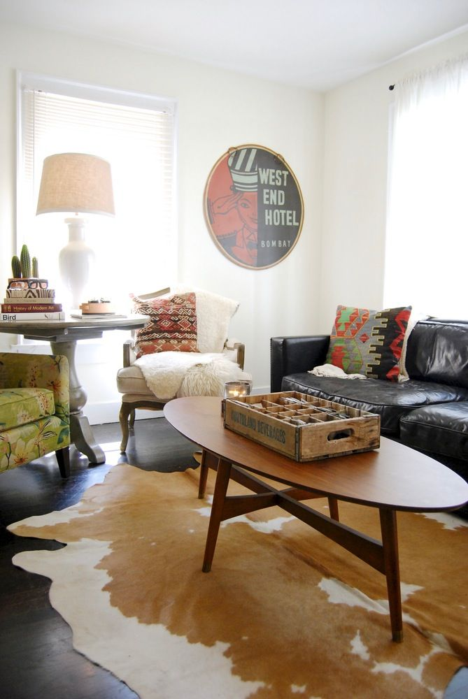A Mid Century Western Bungalow Modern Rustic Living Room