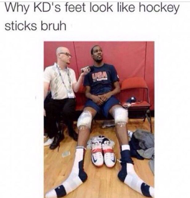 Pin By Yolo Johnson On That S Cray Kevin Durant Hockey Stick Feet