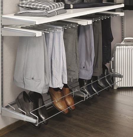 Howards Storage World   Elfa Decor Gliding Pant Rack. Closet Organization