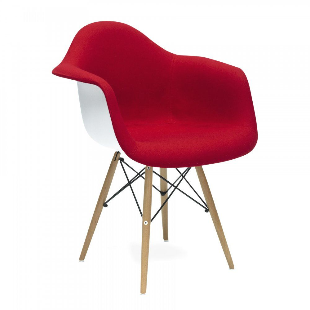 charles and ray eames upholstered red daw style chair 109 spare