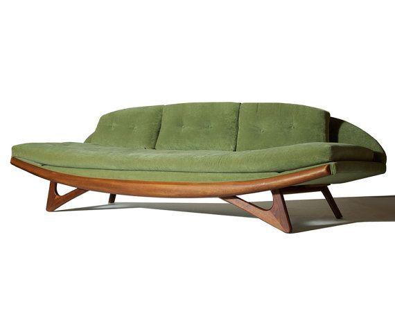 Mid Century Modern Adrian Pearsall Gondola Sofa For Craft
