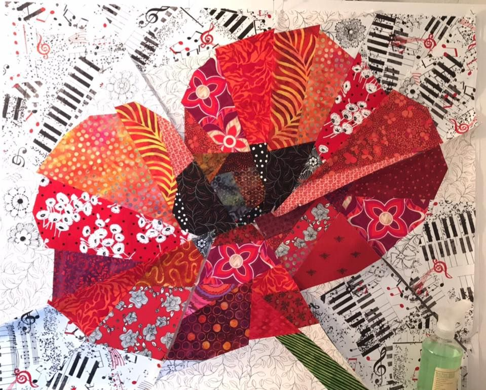 Ann Shaw Pattern Quot Poppy Quot Quilting Paper Piecing