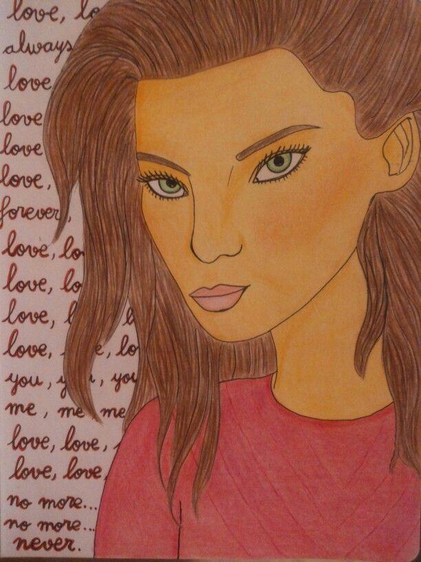 Dibujo de chica. -2013-