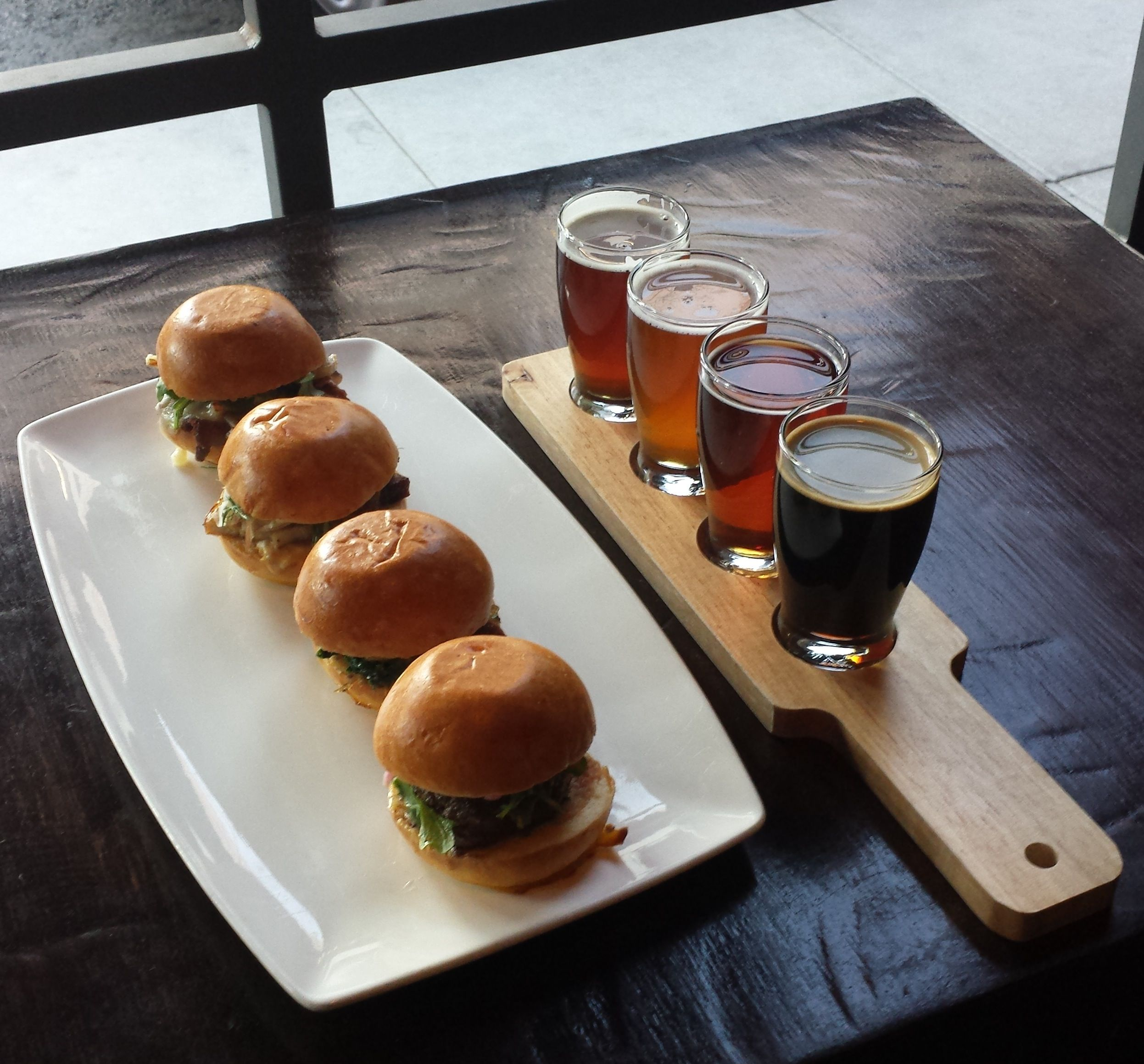 Haven Gastropub 4 beers paired with 4 sliders | Pub food ...Pub Food Burgers