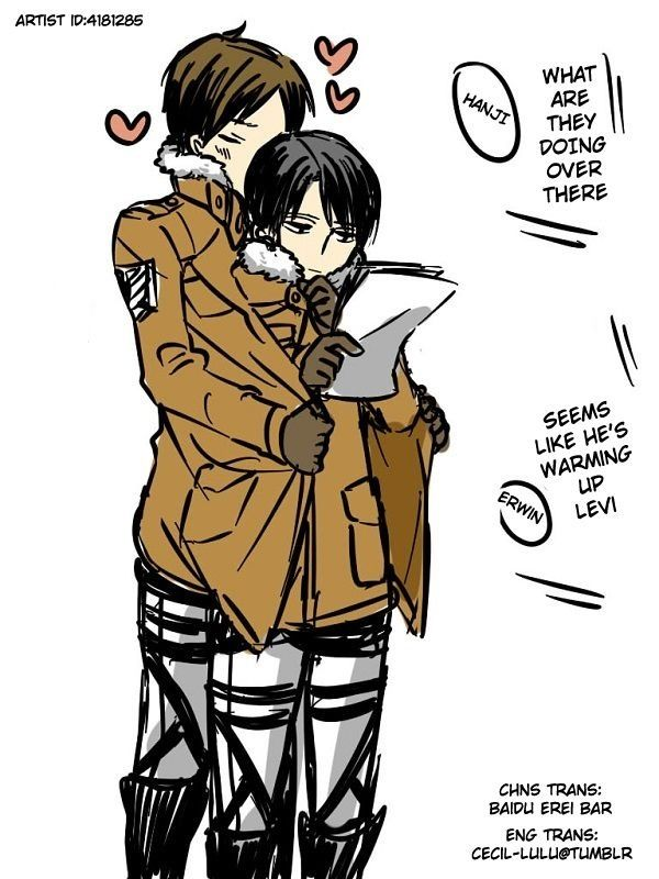 Rivaille (Levi) x Eren Jaeger >>> I've seen too many of these things I think I'm starting to ship them