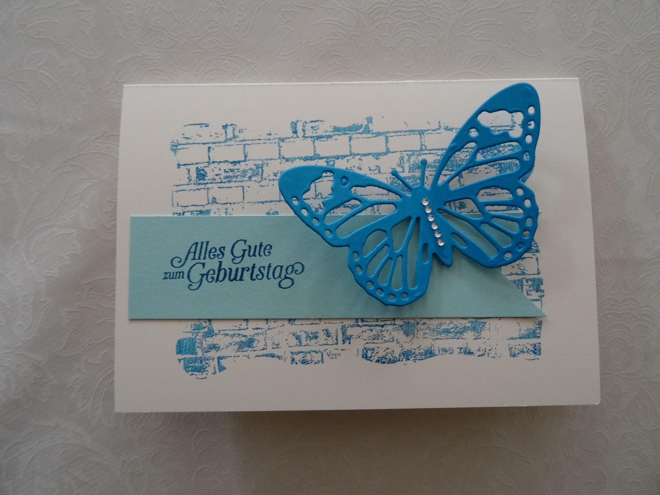 Karte su stampin up schmetterling stempelset sale a for Pinterest geburtstagskarte