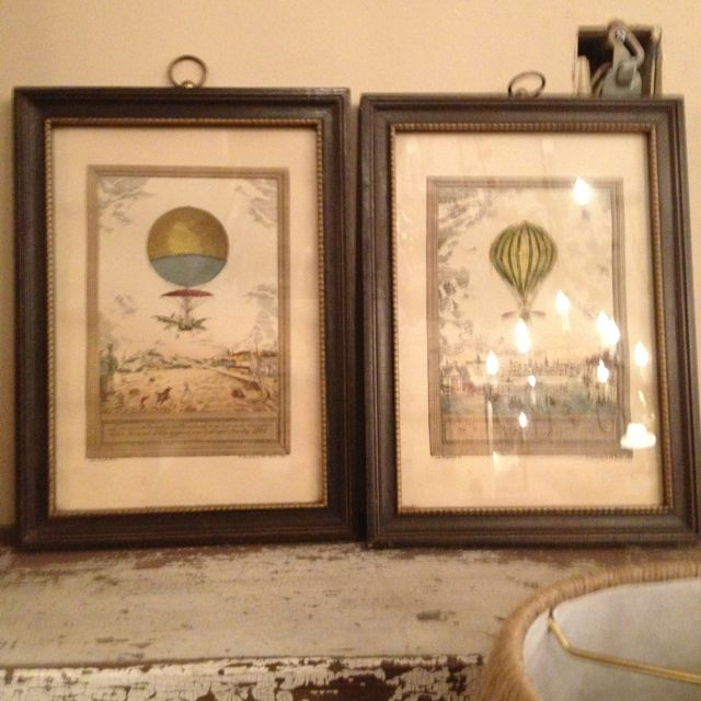 Antique balloon prints