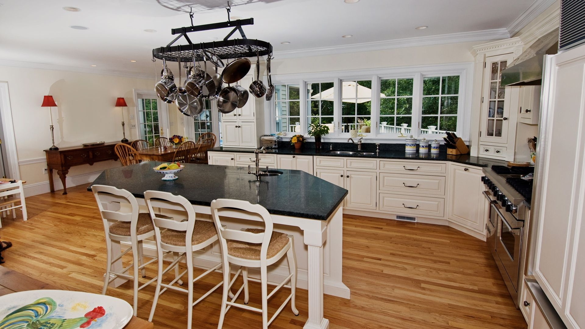 Download Wallpaper 1920x1080 Dining Room Kitchen Table Furniture Interior Full Hd Country Kitchen Interiors Kitchen Flooring Options Modern Kitchen Design