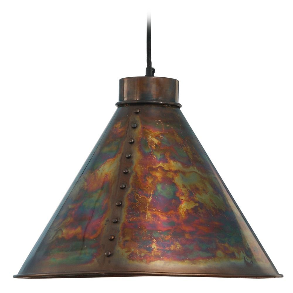 kenroy home lighting cuprum flamed copper pendant light with coolie