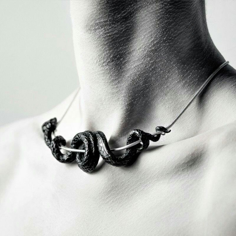 Macabre Gadgets Black Serpent Collar