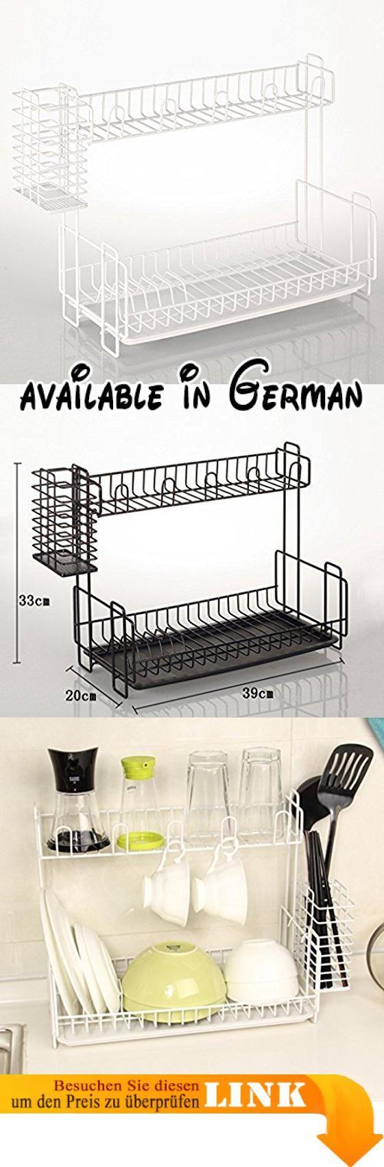 B078TTM1WX : Großer Raum feste Lager Küche Regal Doppelgeschirr ...