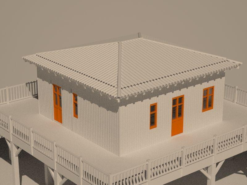 Ansicht von rechts - Dachziegel