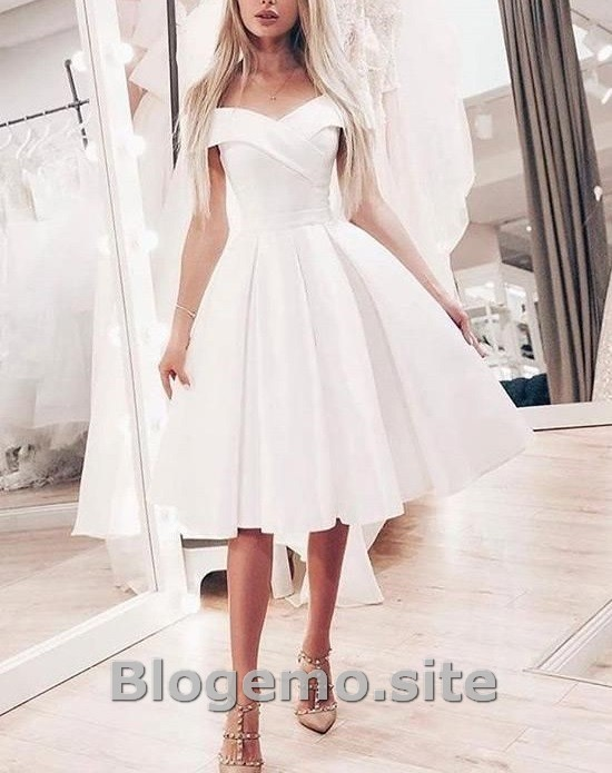 Amazing Short And Knee Length Wedding Dresses Di 2020 Dengan Gambar