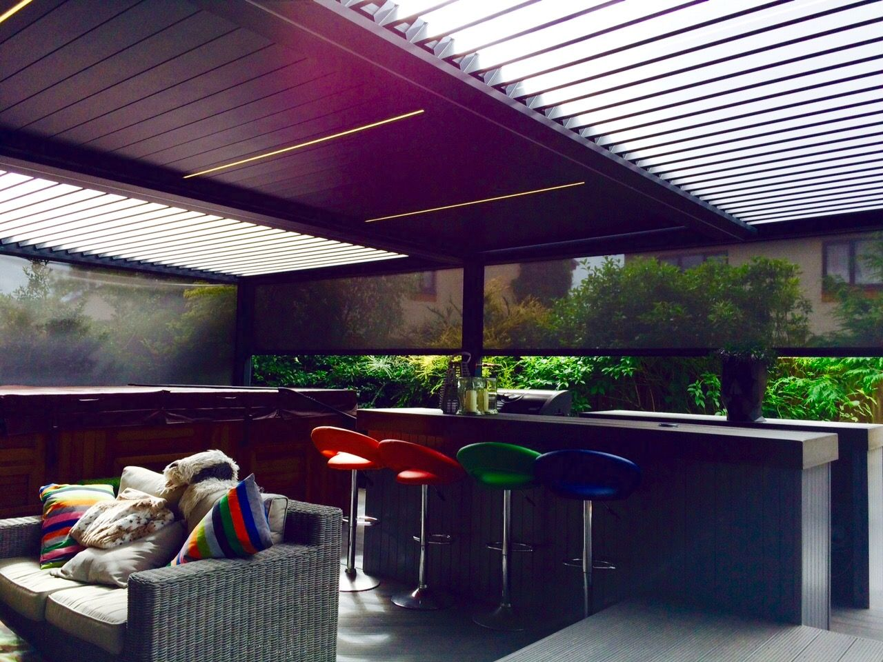 Outdoor Living Pod, Louvered Roof Patio Canopy