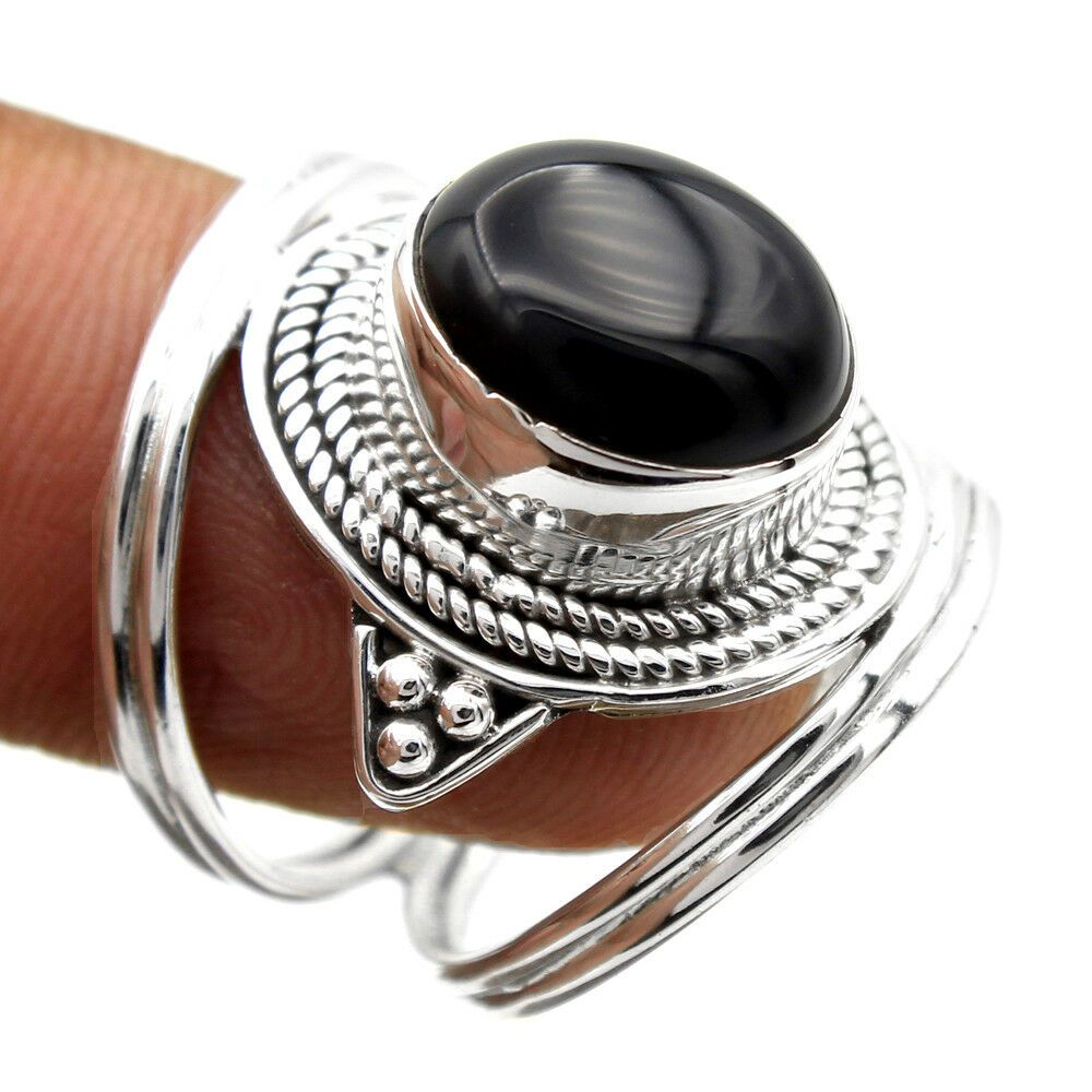 WIDE HANDMADE BALI RING  ALL Genuine Sterling Silver.925 Stamped Size 11