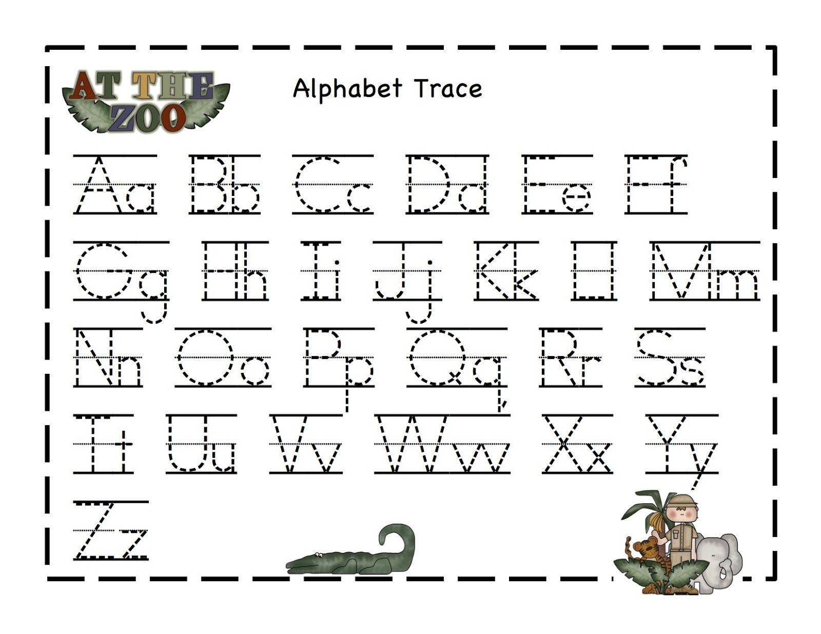 Preschool Printables Zoo Kindergarten Worksheets Printable Alphabet Tracing Kindergarten Worksheets [ 1236 x 1600 Pixel ]