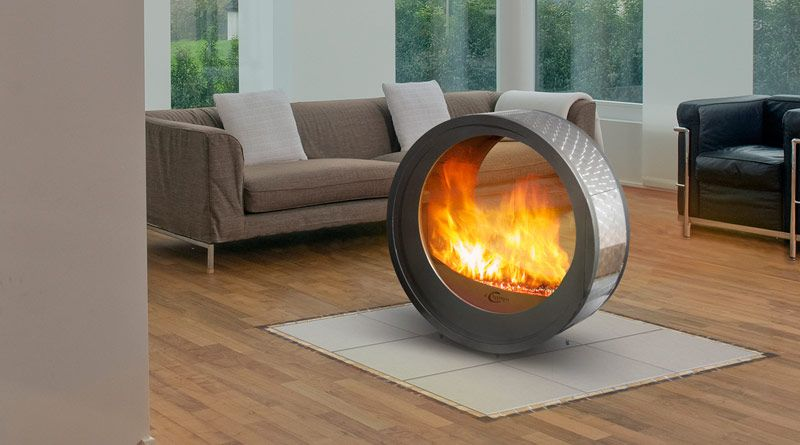 Eclypsya By Arkaine A Mobile Fireplace Made In France That Borders