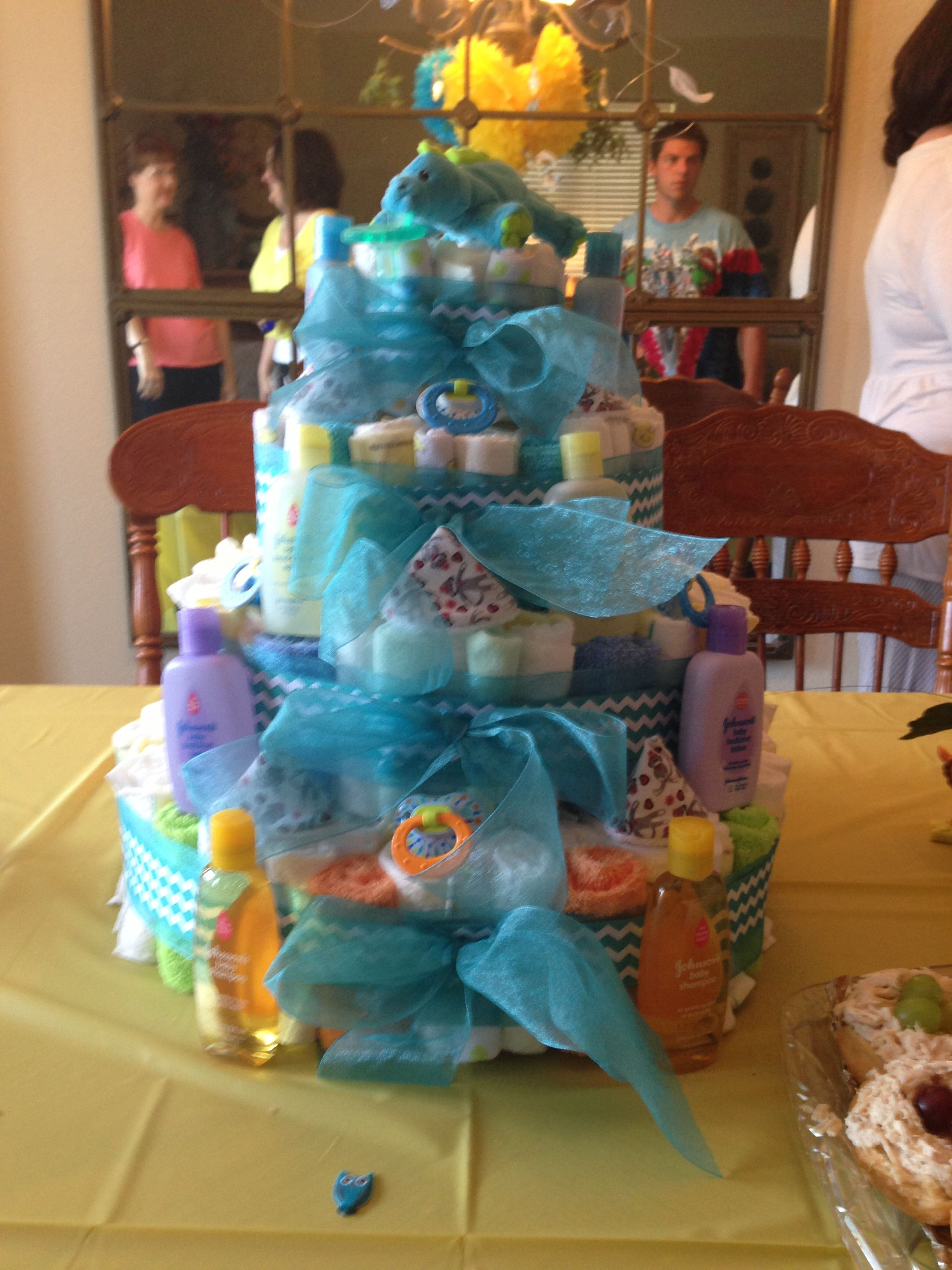 A Diaper Cake I made for a very close friend.