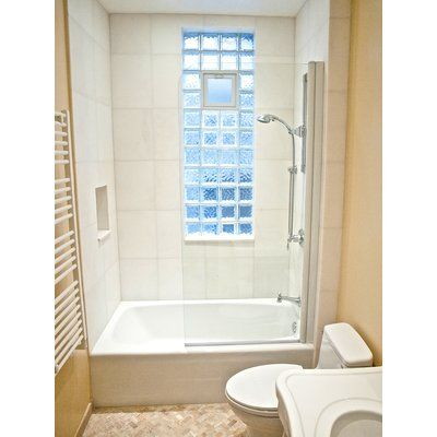 Ark Showers 33 5 X 64 Pivot Frameless Tub Door With Clearshield