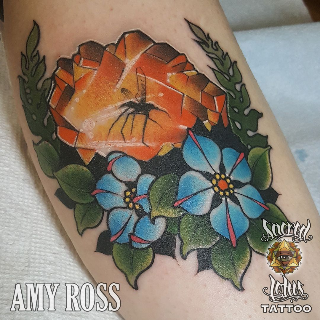 Tattoo By Amy Ross At Sacred Lotus Tattoo Asheville Nc With Images Lotus Tattoo Tattoos Maple Leaf Tattoo