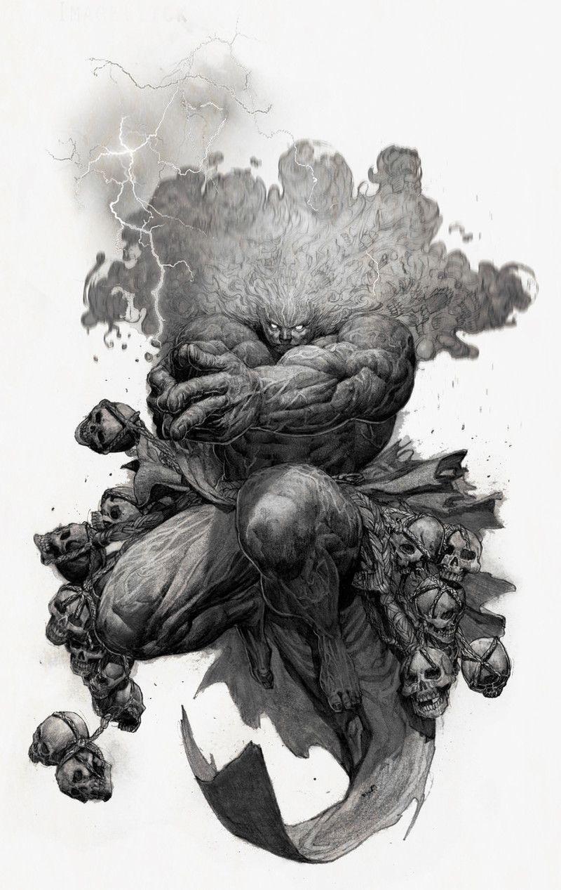 Rockhe by rockhe kim on artstation badass illustration