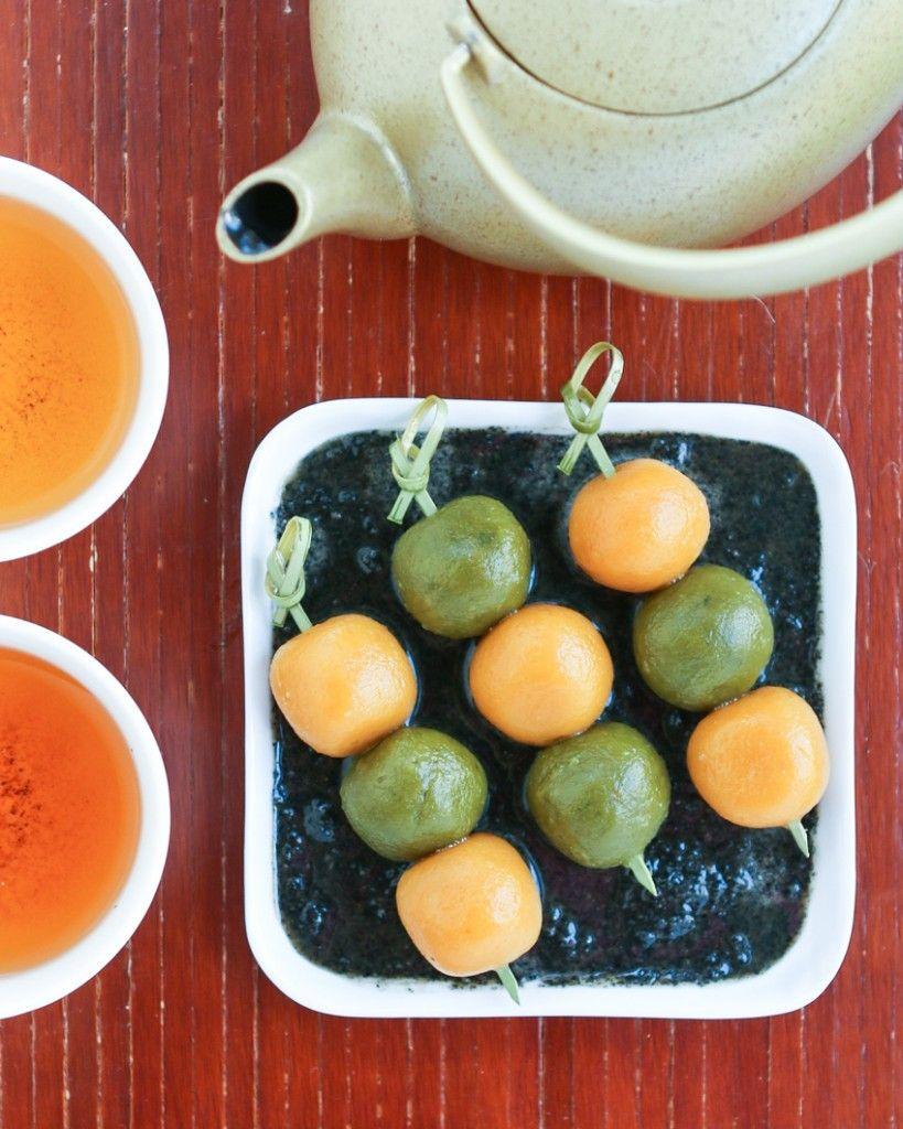 Thirsty For Tea Pumpkin & Green Tea Dango Green tea, Raw