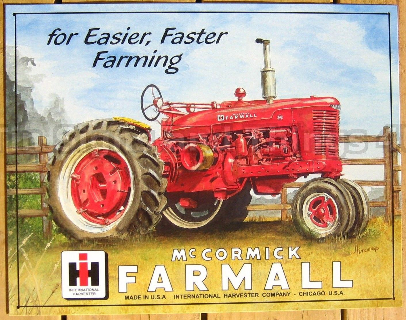 11 99 Farmall M Tractor Tin Sign Faster Farming Metal Art