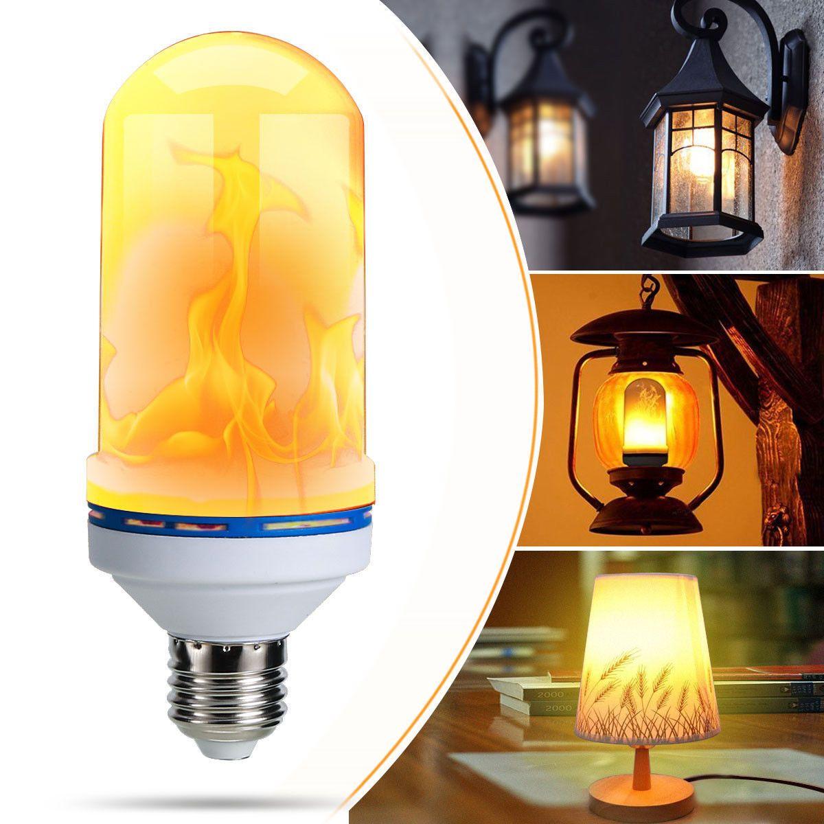 1 0aud E27 B22 6 5w Led Burning Light Flicker Flame Lamp Bulb Fire Effect Decorative Ebay Light Bulb Lamp Light Bulb Candle Decorative Light Bulbs