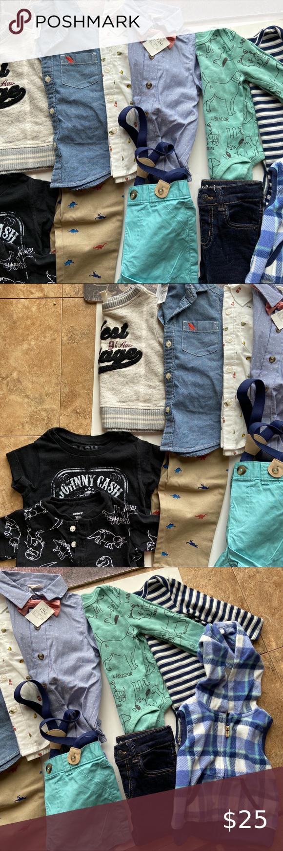 Boys 12 Piece 12 Month Clothes Bundle in 2020 | Long ...