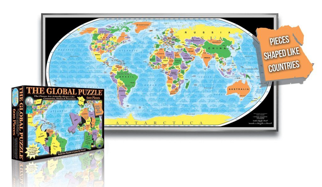 Global puzzle 600 piece by broader view buy maps and puzzle pieces buy map global puzzle 600 piece by broader view yellowmaps map store gumiabroncs Choice Image