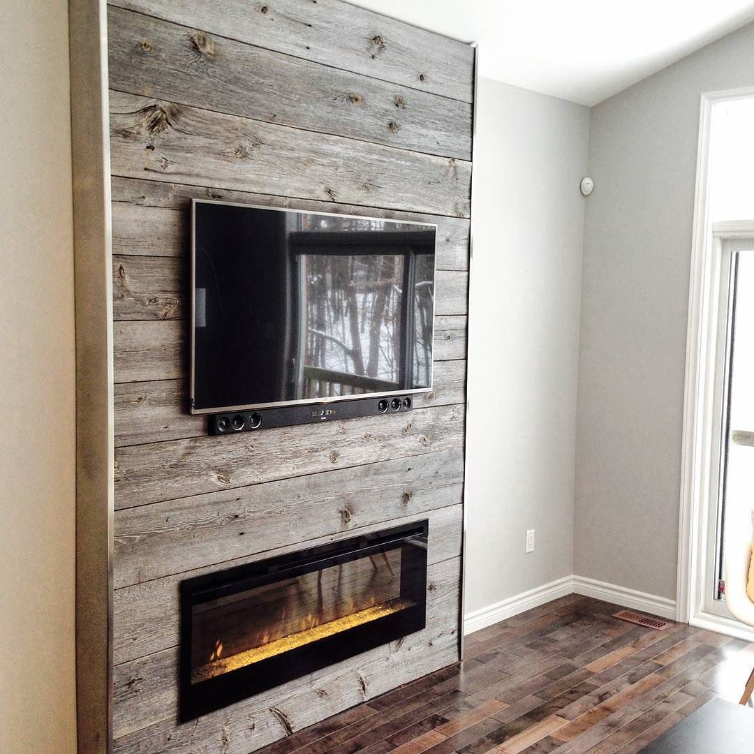 Nice Fireplace Feature Wall Done Using Our Classic Grey Reclaimed