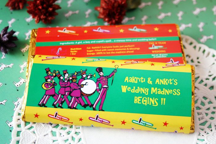 Personalized Chocolate wrappers - have a choco cart doing the ...