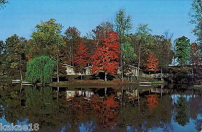 VG+ UNUSED Chrome Postcard Vintage Timbers Lodges Marydale Retreat  Erlanger KY