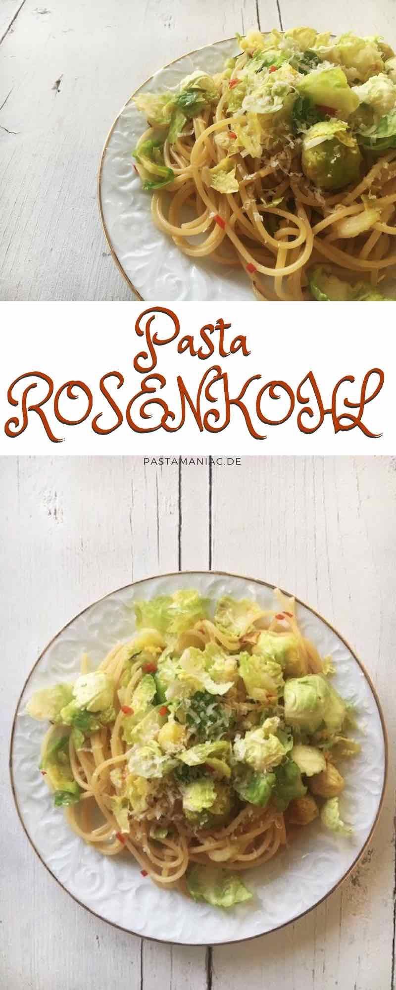 Gesund und lecker: Spaghetti mit Rosenkohl-Zitronen-Sauce.