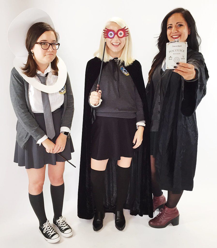 Moaning Myrtle Luna Lovegood and Hermione as Bellatrix Lestrange From Harry Potter  sc 1 st  Pinterest & 64 DIY Harry Potter Halloween Costumes For the Wizards at Heart ...