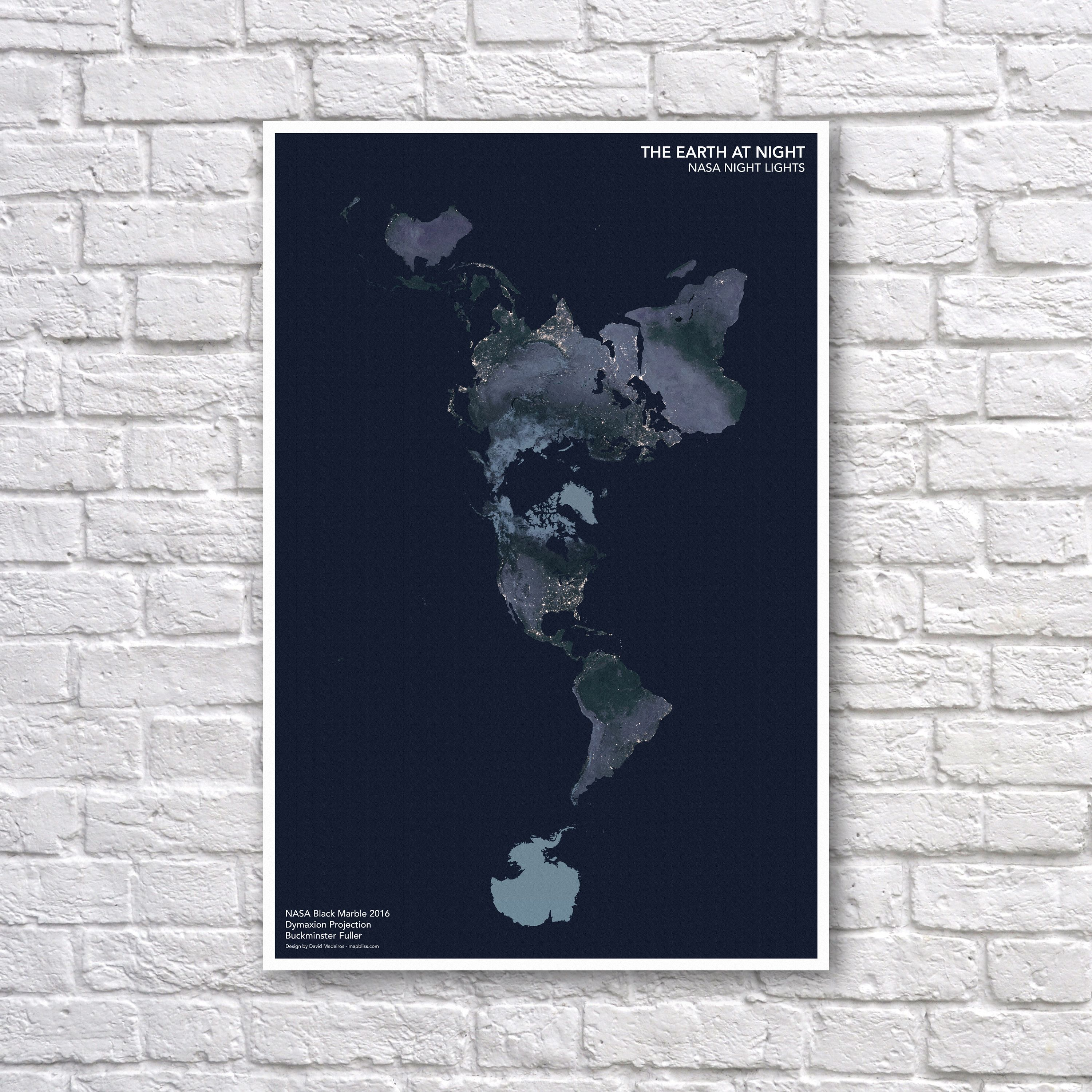 Nasa earth at night poster night lights image buckminster fuller nasa earth at night poster night lights image buckminster fuller projection world map poster gumiabroncs Images
