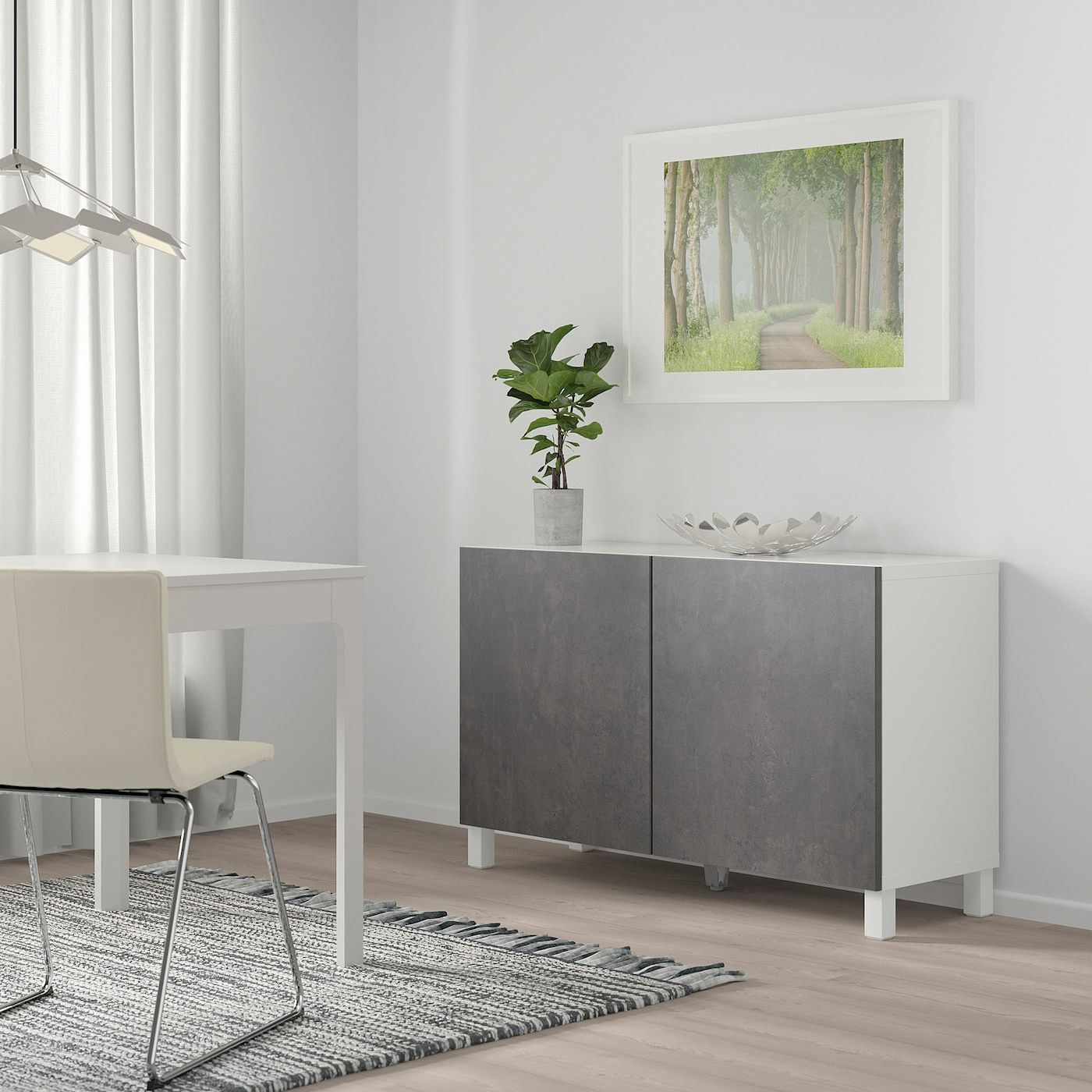 IKEA BESTÅ Storage combination with doors white