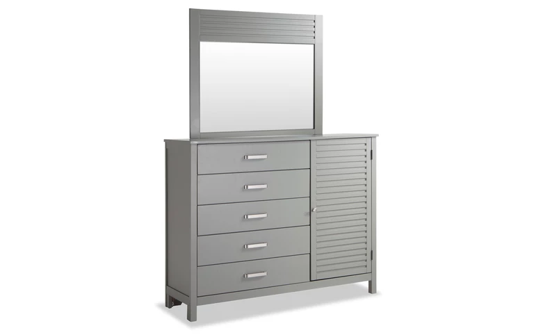Dalton Queen Gray Storage Bedroom Set